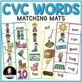 Word Reading Practice Picture to Word Matching Mats Short