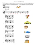 Picture to Word Matching, Treble Clef