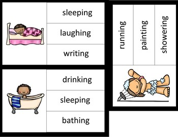 Picture to Word Reading Comprehension- Daily Routines