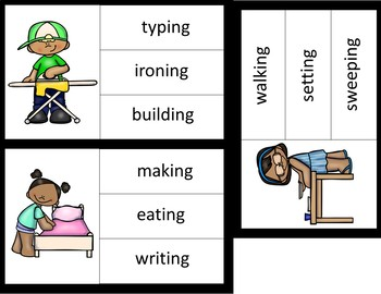 Picture to Word Reading Comprehension- Indoor Chores
