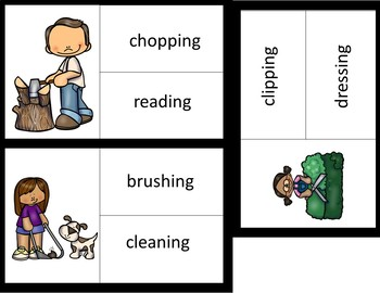 Picture to Word Reading Comprehension- Outdoor Chores