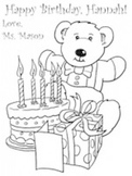 Picture to color on student's birthday