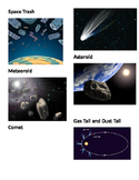 Picture vocabulary: Space Trash, meteoroid, comet, asteroi