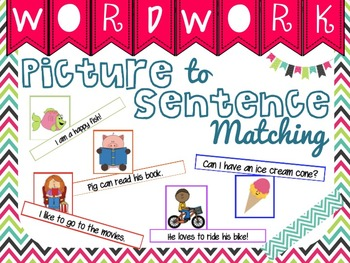Picture/Sentence Matching Center (Differentiated & Common Core Aligned)