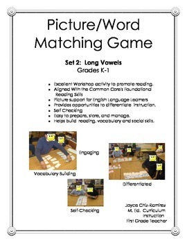 Picture/Word Matching Game Set 2 Long Vowels