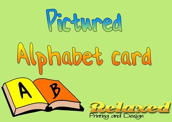 Pictured Alphabet card