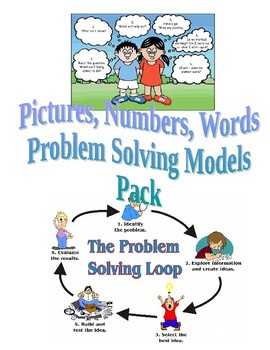 Pictures, Numbers & Words Problem Solving Models Pack