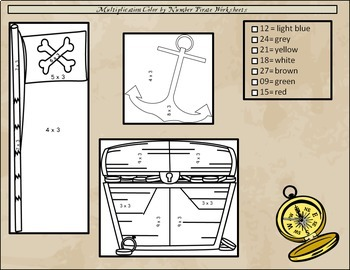 Multiplication Mystery Pictures: Pictures, Pirates, Products