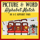 Pictures and Words Match Flip Book: An A-Z Alphabet Pack