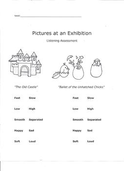 Pictures at an Exhibition Listening Assessment