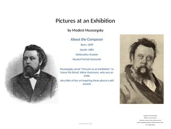 Music Unit: Pictures at an Exhibition Mussorgsky Unit