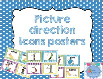 Pictures direction icons posters