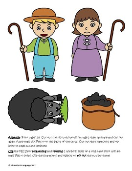 Baa Baa Black Sheep, Picture/Autism Supports