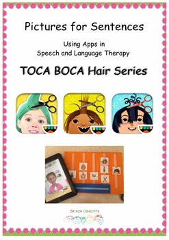Pictures for Sentences - Toca Boca Hair Series