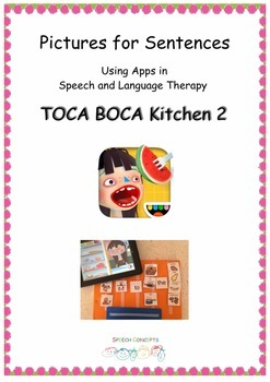 Pictures for Sentences - Toca Boca Kitchen 2