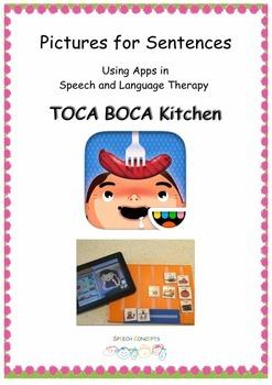 Pictures for Sentences - Toca Boca Kitchen