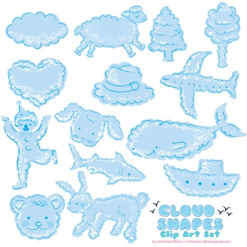 Pictures in the Sky - Cloud Shapes Clip Art Set