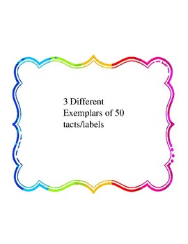 Pictures of 50 nouns - 3 Exemplars of each