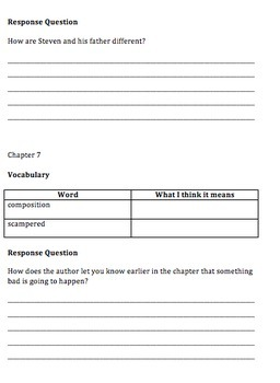 Pictures of Hollis Woods Comprehension Questions and Vocabulary Guide