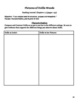 Pictures of Hollis Woods Guided Reading Packet