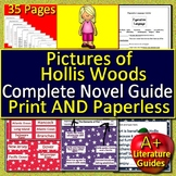 Pictures of Hollis Woods Novel Study Print AND Paperless with Self-Grading Tests