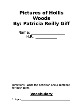 Pictures of Hollis Woods Packet