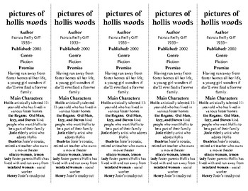 Pictures of Hollis Woods ed. of Bookmarks Plus: Fun Freebie/Handy Reading Aid!