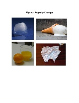 Pictures of Physical and Chemical Changes