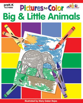 Pictures to Color: Big & Little Animals