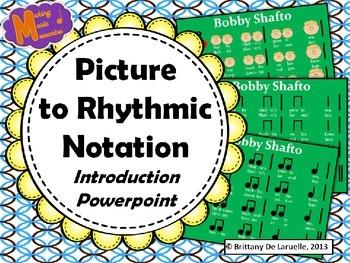 Ta & Ti-Ti Picture to Rhythmic Notation - PDF