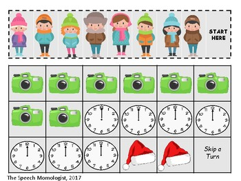 Pictures with Santa: Speech Therapy Game