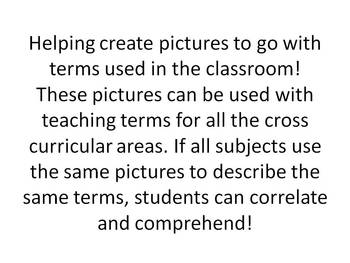 Pictures with Science terms for ELL