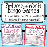 Pictures with Words Bingo Game Bundle/Winter and Valentine's Day
