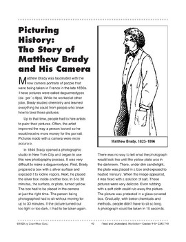 Picturing History: The Story of Matthew Brady and His Camera