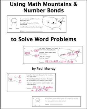 Picturing the Part-Part-Whole Relationship with Math Mountains & Number Bonds