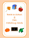 {FREEBIE}  Picture Matching: Back to School and Fall Themed