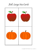 Picure Matching: Back to School and Fall Themed
