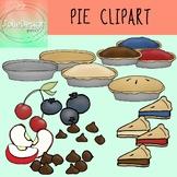 Pie Clip Art - Color and Line Art 26 pc set