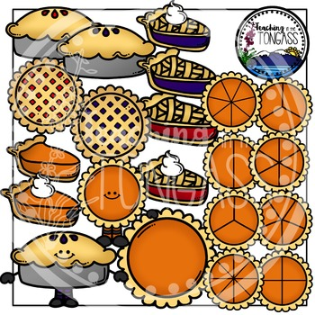 Pie Clipart and Pie Fraction Clipart