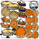 Berry and Pumpkin Pie Clipart and Pie Fraction Clipart