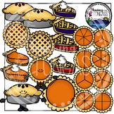 Pie Clipart and Pie Fraction Clipart Bundle