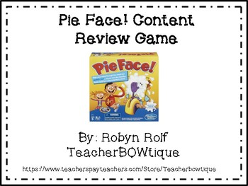 Pie Face! Content Review Game
