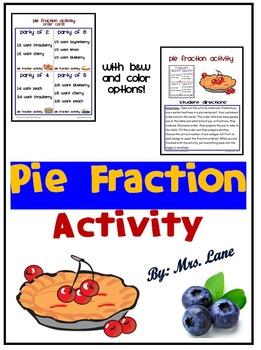 Pie Fraction Activity