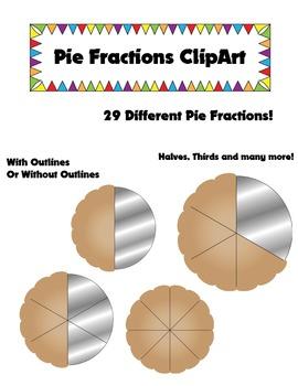 Pie Fractions Clip Art