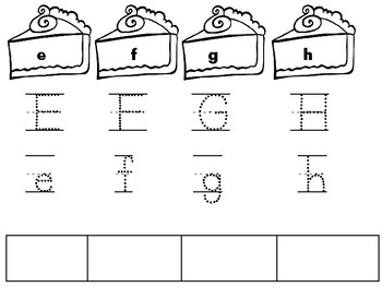 Pie Letter Tracing