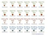 Pie Pop Labels