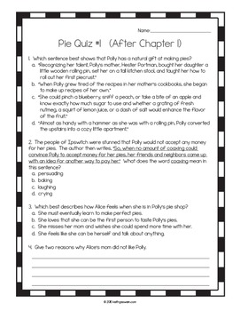 Pie Power Pack: 14 Writing Prompts and 14 Quizzes