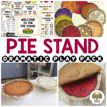 Pie Stand Dramatic Play Set
