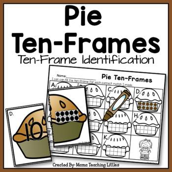 Pie Ten-Frames - Ten Frame Identification