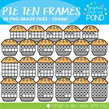 Pie Ten and Twenty Frame Clipart